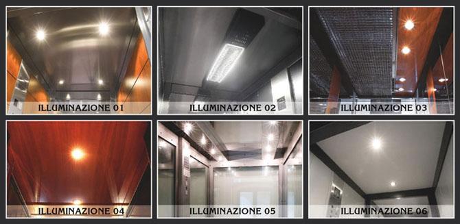 Finiture per ascensori interni per cabine - Esempi di illuminazione a led per interni ...