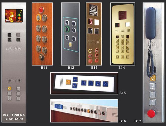 Finiture per ascensori - Pulsantiere di cabina