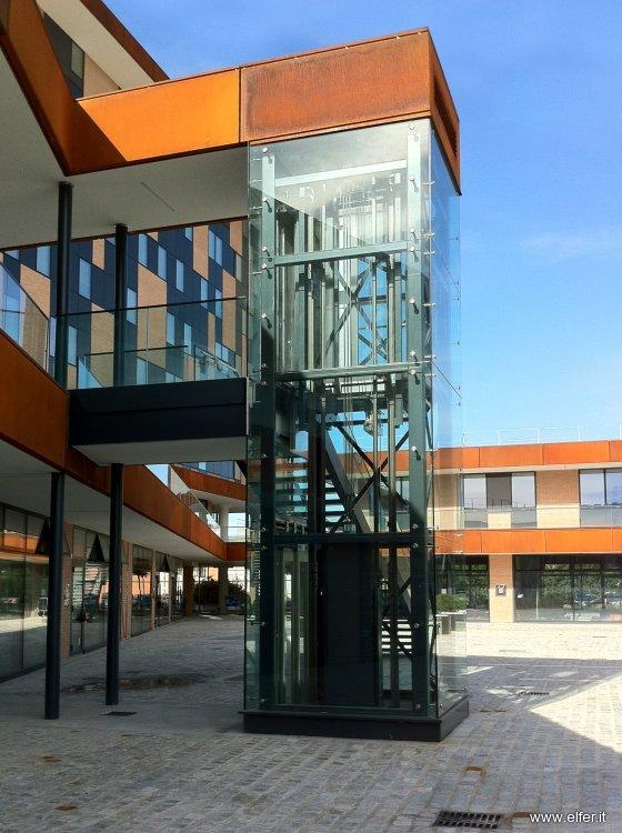 Ascensore in vetro per esterno o interno elfer - Costo ascensore esterno 3 piani ...