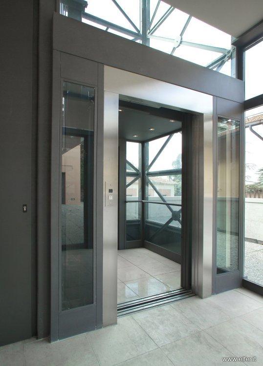 Ascensore in vetro per esterno o interno - ELFER