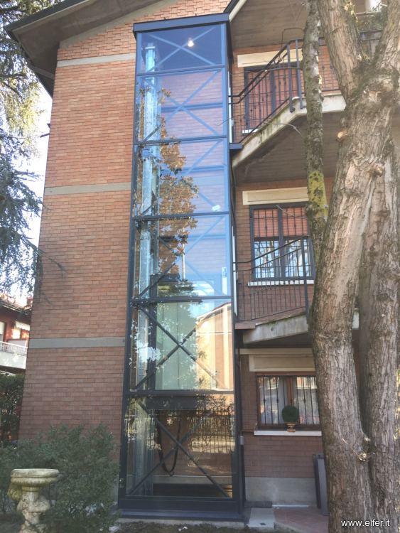 Ascensori per ristrutturazioni e restauri elfer - Quanto costa un ascensore esterno ...