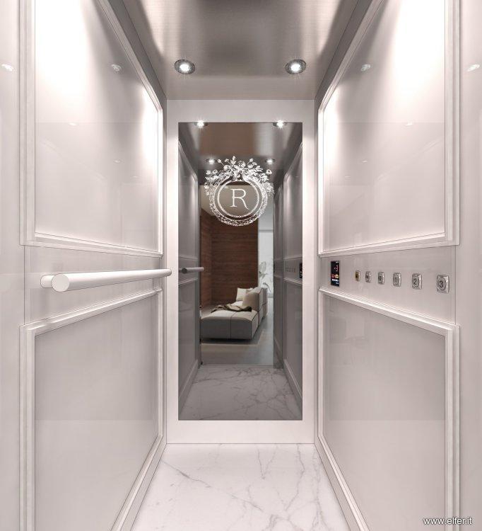 Ascensori e piattaforme elevatrici elfer for Piccoli interni rustici della cabina