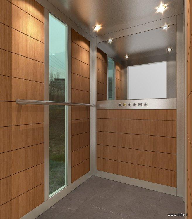 Cabina ascensori boiserie in legno elfer - Cabine in legno ...