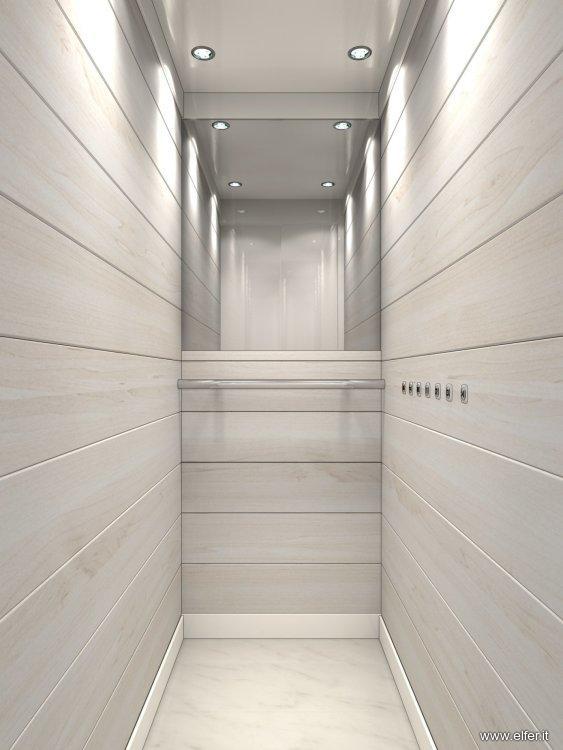 Cabina ascensori boiserie in legno elfer for Cabine di legno di whitetail